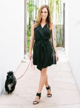 Sydne Style shows how to wear a jacket as a dress in stitchfix lbd