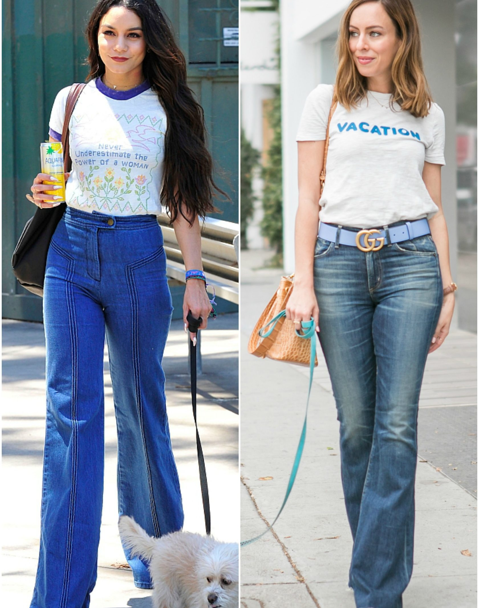 Sydne Style shows how to get Vanessa Hudgens street style in flare jeans and graphic tee