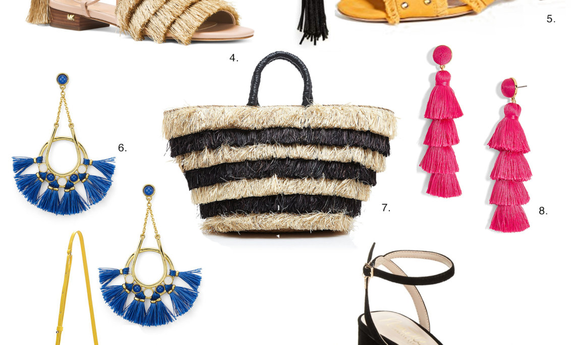 Sydne Style rounds up the best fringe accessories for spring with online coupon codes
