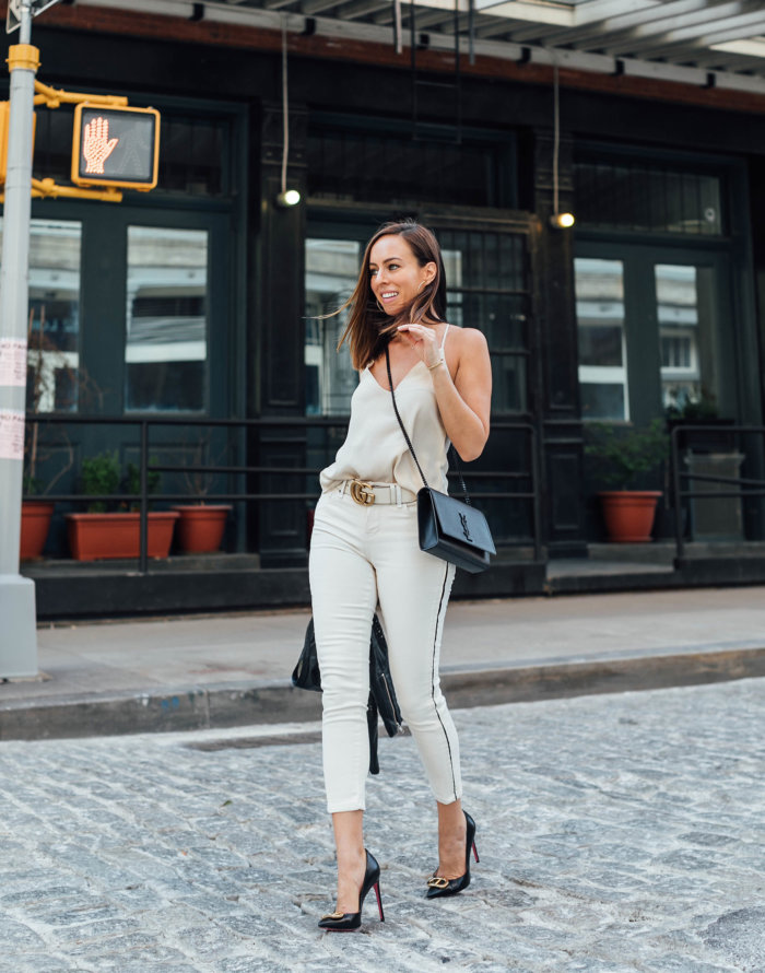 Neutral Jeans From Day to Night in NYC